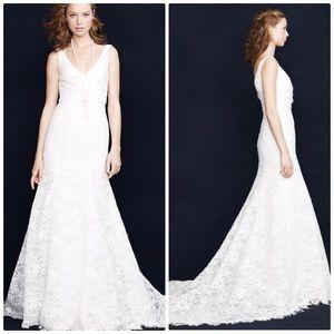 J. Crew Sara Ivory Lace Wedding Gown
